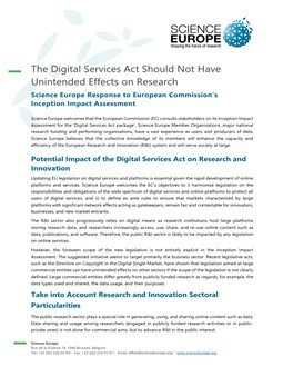 Cover of the Response to the European Commission Consultation on the European Strategy for Data